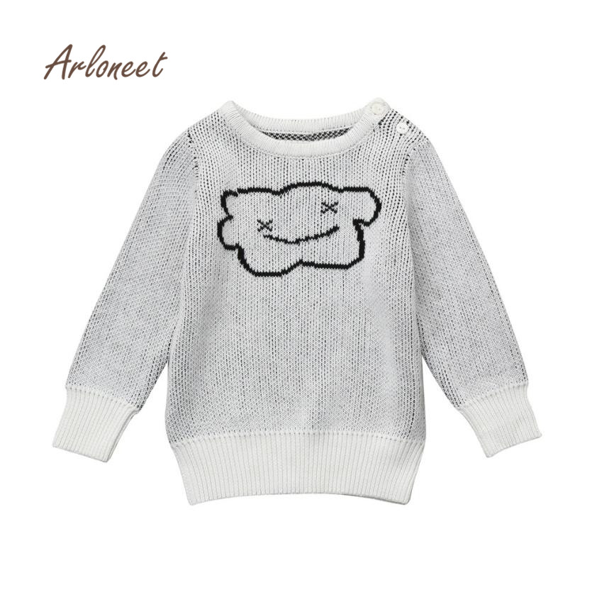 2017 new winter baby girl clothes Toddler Kid Boys Girls Clothes Knitted Cloud Sweater Cardigan Coat Tops drop shopping nov1
