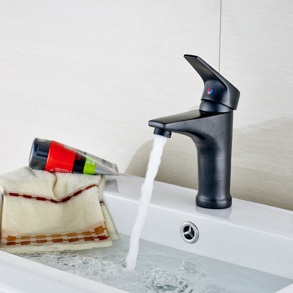 Modern Small Oil Rubbed Bronze Bathroom Basin Faucet Vanity Sink Mixer Tap NEW