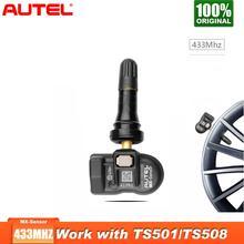 4 개/몫 Autel MX 센서 433MHZ 자동차 TPMS 자동차 타이어 도구 압력 모니터 압력 시스템 OBD2 자동차 TPMS 타이어 압력
