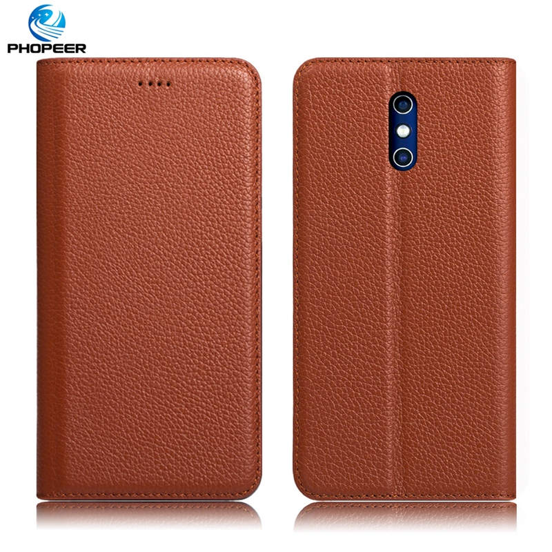 Original PHOPEER Luxury Genuine Leather Case For DOOGEE BL5000 Mobile Phone Stand Filp Cover Case For DOOGEE BL5000 5.5 inch