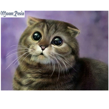 Animals 5D Diamond Painting Cross Stitch The Staring Cat Mosaic Full Square Drill 3D Embroidery Decoration Gifts