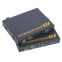 PW THF108KM lossless uncompressed VGA KVM Optical USB + VGA to Fiber Optic Extender Transceiver Industrial Grade 10KM