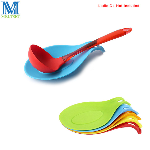 US $1.85 |Meltset 1pc Silicone Spoon Rest Heat Resistant Scoop Pad Kitchen  Utensils Spatula Holder Table Decoration Tools Accessories-in Spoon Rests &  ...