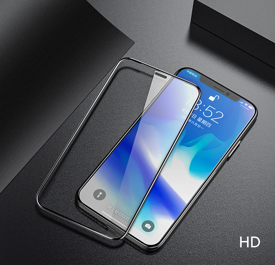 Benks 0.3mm Full Cover Tempered Glass For iPhone XS 5.8'' XS MAX 6.5'' XR 6.1 HD Screen Protector Anti Blu Ray Glass Front Film (15)