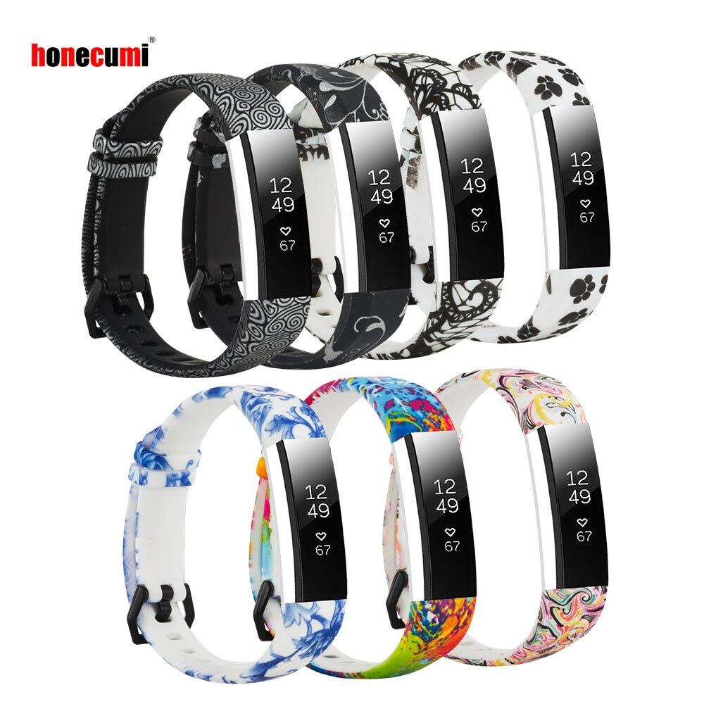 Honecumi banda inteligente silicone substituição para fitbit alta hr/alta colorido pulseira pulseira pulseira para apto bit alta hr 7 cor