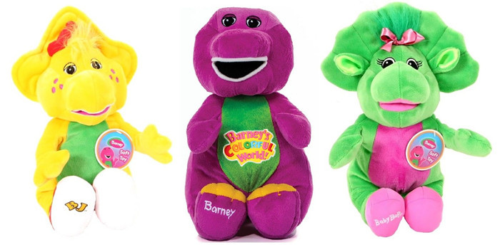 NEW BARNEY AND FRIENDS PLUSH BARNEY BABY BOP BJ SOFT Plush TOYS 3PCS