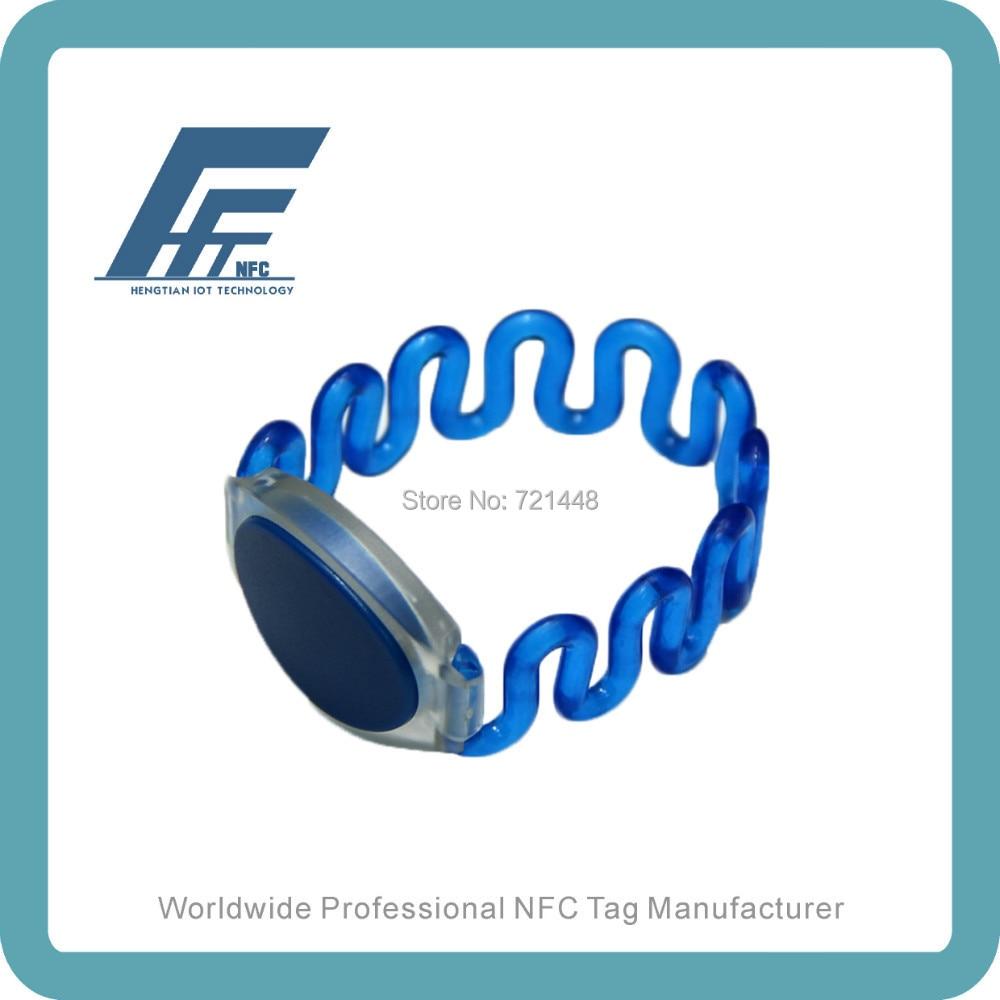 NFC Plastic Closed-loop Wristbands NTAG213 Blue Plastic NFC Wristband 100pcs ntag213 wristband nfc wristband nfc