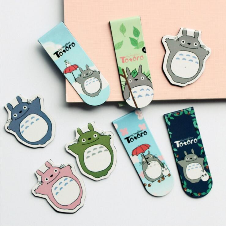2 pcs/pack Cute My Neighbor Totoro Magnet Bookmark Paper Clip School Office Supply Escolar Papelaria Gift Stationery(China)