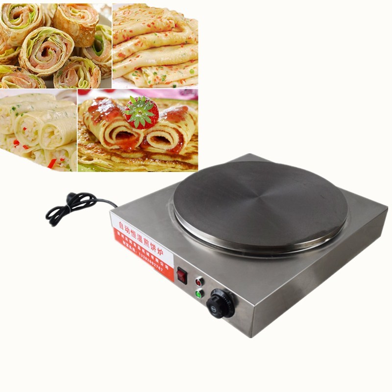 2017 electric automatic rotating pancake griddle stove oven,220V/2000W Automatic temperature control pancake stove 1pcs new arrival 40cm pan pancake griddle stove lpg commercial pancake machine pancake stove ship to your home