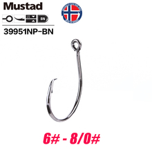 Mustad Norway Origin Fishing Hook Super Power Big Size Circle Fish Hooks,6#-8/0#,39951NP-BN