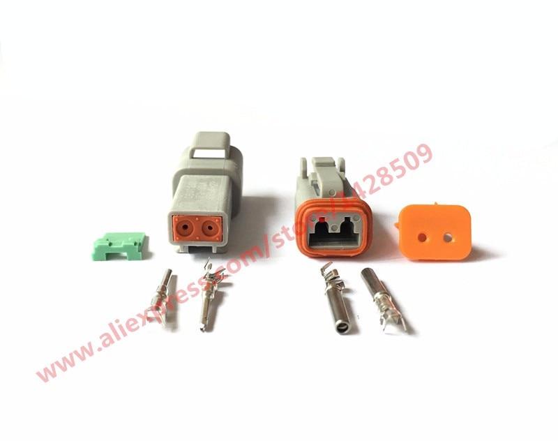 50/100 set 2 Pin Vrouw Man Waterdichte Elektrische Draad Connector Plug Deutsch Verbeterde Seal Krimpen Boot Adapter DT06 2S DT04 2P
