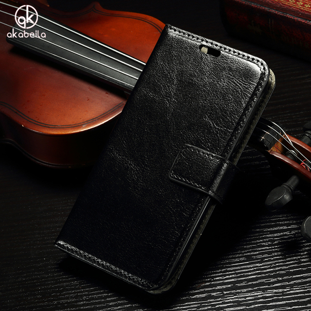 AKABEILA Phone Cases For Samsung Galaxy J3 2017 Flip Wallet PU Leather Case Shield Hood J330F/DS J3 Pro 2017 US Version Covers