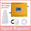 Высокое качество жк-дисплей dual band 2 г 3 г ретранслятора мобильного сигнала gsm репитер 900 2100 телефон gsm900 сигнала booster Усилитель
