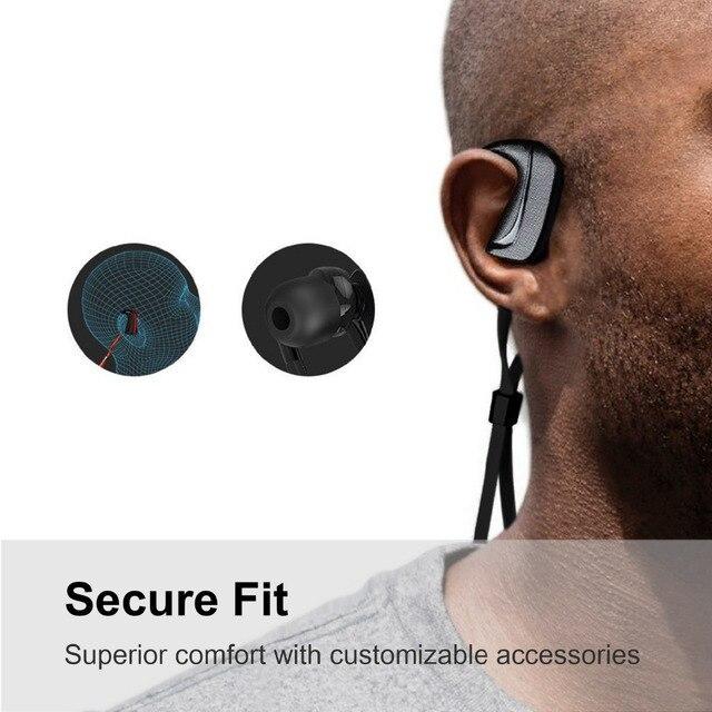 Sport Bluetooth Headphones Wireless Ergonomic Sweatproof In-ear Earphone Headset Earbuds with Noise Cancelling Mic Handsfree