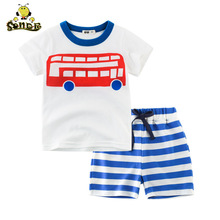 SONDR 2019 childrens wear summer new suit boys short sleeved T shirt medium pants two-piece baby
