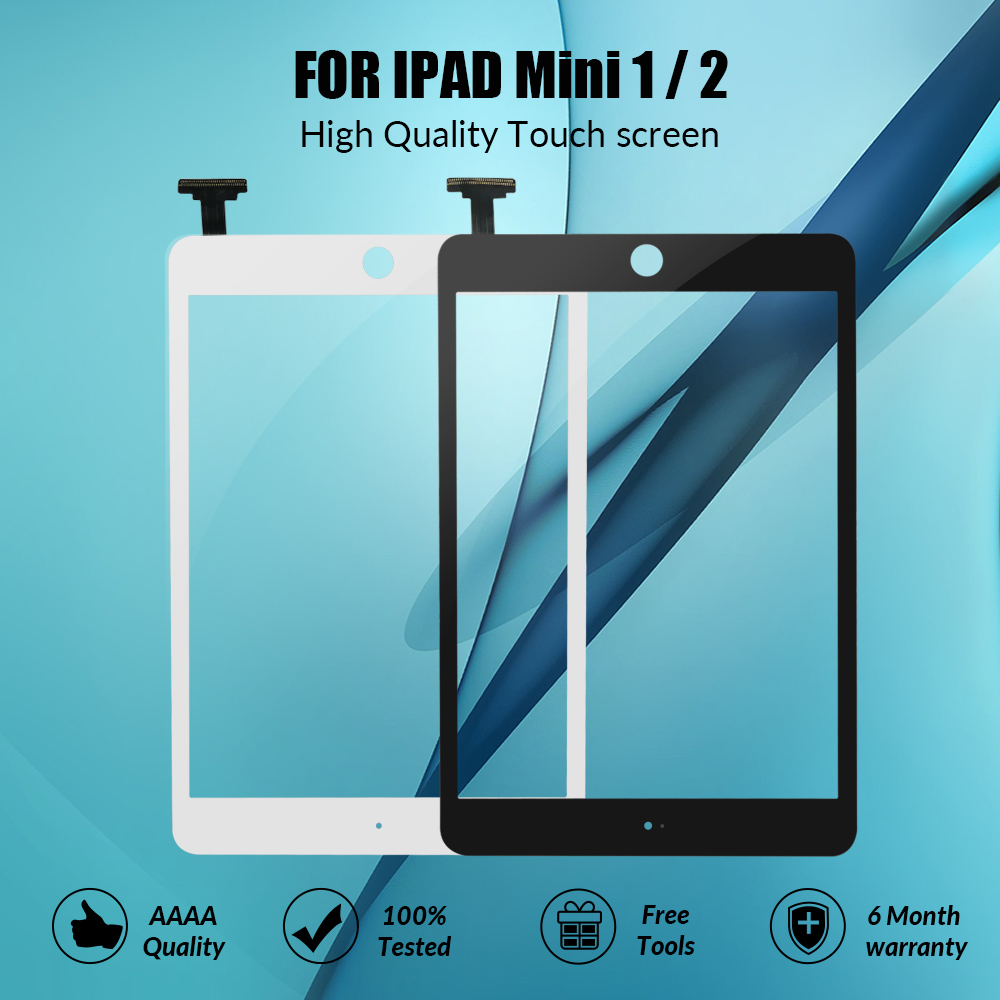 AAA Quality Touch Screen For <font><b>ipad</b></font> <font><b>mini</b></font> 1 2 Touch Glass Screen Digitizer For <font><b>iPad</b></font> mini1 mini2 <font><b>A1432</b></font> A1454 A1455 A1489 Without IC image