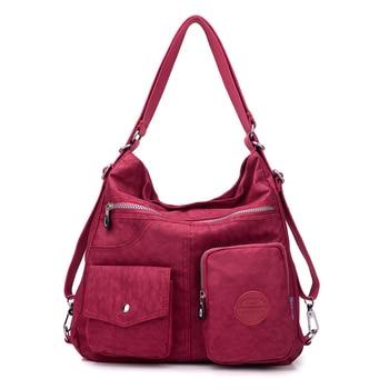 JINQIAOER New Waterproof Women Bag Double Shoulder Bag Designer Handbags High Quality Nylon Female Handbag bolsas sac a main