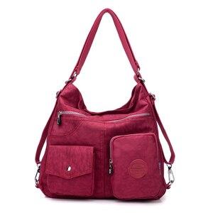 JINQIAOER جديد للماء المرأة حقيبة مزدوجة حقيبة كتف مصمم حقائب عالية الجودة النايلون الإناث يد bolsas sac