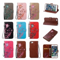 For Samsung Galaxy S3 i9300 Case Luxury 3D Butterfly and Flowers Wallet Flip Hit Color Embossed Leather Phone Case for S3 i9300