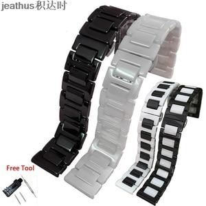 Image 1 - Jeathus cinturino cinturino bracciale in ceramica per le smart watch samsung gear S2 classico S3 frontier moto360 gen2 watch band 20 22 millimetri uomo