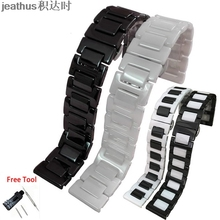 Jeathus רצועת השעון רצועת קרמיקה צמיד עבור smart watch samsung gear S2 קלאסי S3 frontier moto360 gen2 שעון להקת 20 22mm איש
