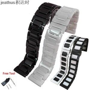 Image 1 - Jeathus רצועת השעון רצועת קרמיקה צמיד עבור smart watch samsung gear S2 קלאסי S3 frontier moto360 gen2 שעון להקת 20 22mm איש