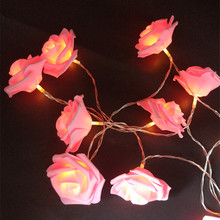 YIYANG 2019 Valentine's Day New Styles 1.5M LED Rose String Lights Parties Holiday Wedding Decoration Lamp 10 Roses for Home KTV