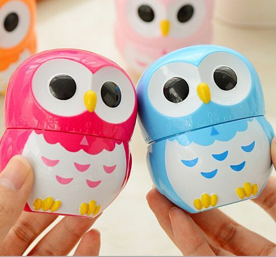 48PCS Hot Sale New Design Owl Novelty Kitchen Timer Kitchen Helper Mini  Kitchen Count Down Clip