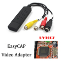 USB Easycap Adaptador de Captura de Vídeo TV DVD VHS Captura de v deo Câmera de captura de Áudio AV para Computador TV DC60 USB 2.0 Easiercap UTV007