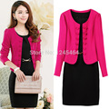 M/L/XL/2XL/3XL/4XL/5XL free shipping 2014 women business suits formal office dress women work wear plus size 2-piece dress suit