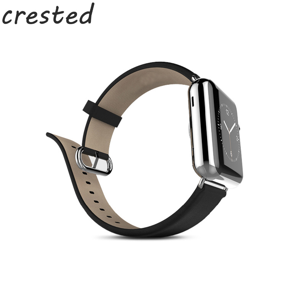 CERESTED genuine leather strap for apple watch band 42mm 38mm Calf leather belt bracelet watch band for iwatch series 3/2/1 istrap black brown red france genuine calf leather single tour bracelet watch strap for iwatch apple watch band 38mm 42mm