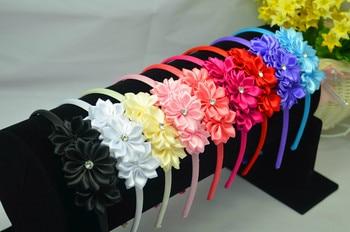 20-515 Criancas oco out flor Headband Headwear Do Bebe Toddle Infantil Meninas flor arco  cabelo elasticos acessorios 9psc Girls Accessories