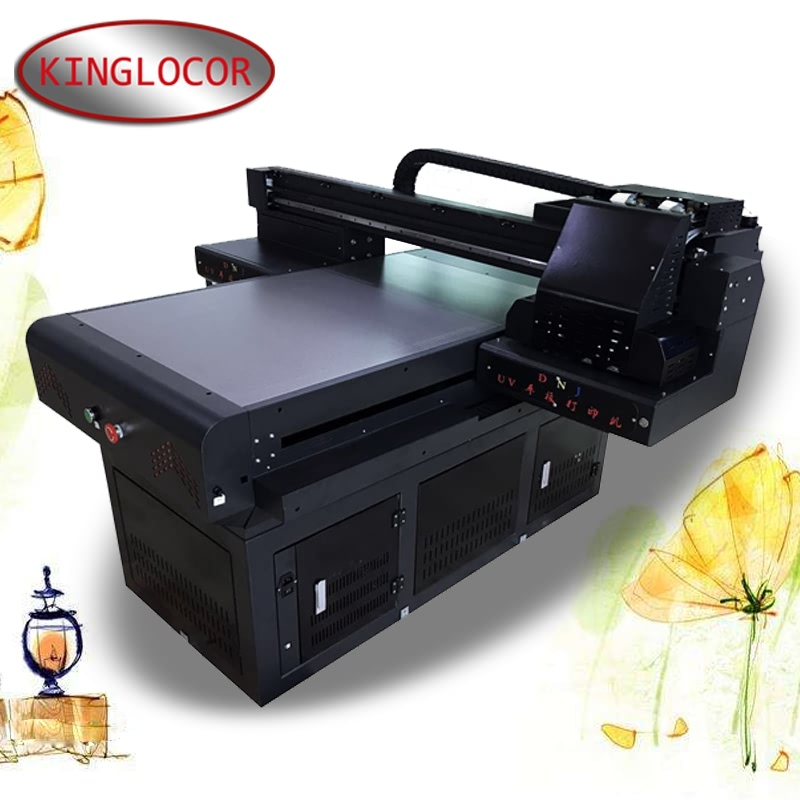 Free shipping 60*90cm flatbed UV printing machine XP6 head glass Acrylic digital UV6090 UV printing machine