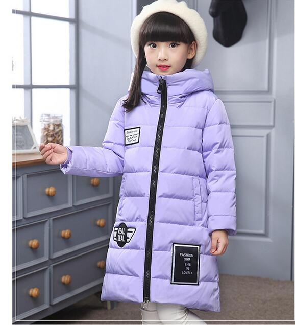 -30 degree childrens down jacket for girls clothes 2016 Girl Long Fund Thickening kids clothes Loose Coat Magic Hat parka TMY12