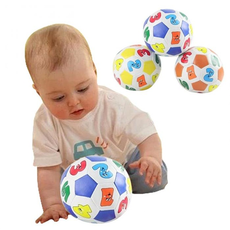Hot Sale Children Kids Educational Toy Baby Learning Colors Number Rubber Ball Plaything Free Shipping
