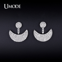 UMODE New Crystal Dangle Earrings For Women Gold / Rhodium plated Pendientes Mujer Moda Christmas Gifts Bijoux Femme AUE0250