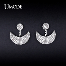UMODE New Crystal Dangle Earrings For Women Gold White Gold Color Pendientes Mujer Moda Christmas Gifts