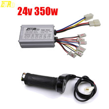 Genuine TDPRO 24V 350W Motorcycle Motor Brushed Speed Controller + Scooter Throttle Twist Grip For ATV Go Kart Buggy Bike