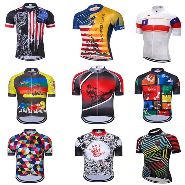 Weimostar men's Cycling Jersey Quick-Dry Short Sleeve Summer Team Clothing Cycle Wear Shirt Ropa Ciclismo Road MTB Bike Top