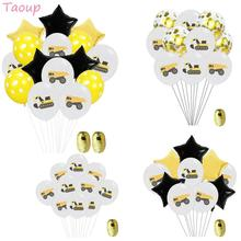 Taoup 10pcs 12inch Truck Balloons Air Happy Birthday Party Decor KidsGold Confetti Latex Round Ballons Accessories Balo