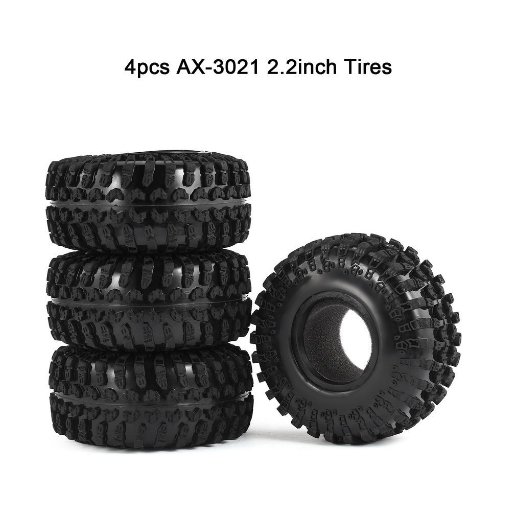 4pcs/set <font><b>2.2</b></font> Inch AX-3021 Rubber <font><b>Tire</b></font> <font><b>RC</b></font> Cars Tyre for 1/10 Axial SCX10 RR10 Wraith 90056 90045 <font><b>RC</b></font> Rock <font><b>Crawler</b></font> Truck <font><b>Tires</b></font> New image