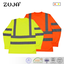 Long Sleeve Safety Work Shirt Breathable Work Clothes Safety Reflective Safety Polo Shirt work long sleeve shirt with pocket
