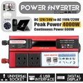 Солнечный инвертор 12V 220V 4000W Pe ak трансформатор преобразователя напряжения инвертор для зарядки автомобильного аккумулятора 12 V/24 V до 110 V/220 V ...