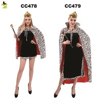 Adult Costume Sexy Cosplay Fantasia Halloween Costume With Leopard Cape For Women Princess Dress Fancy