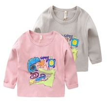The boy cartoon long sleeve T-shirt in the autumn of 2016 the new children's clothing Han edition children baby U4953 render