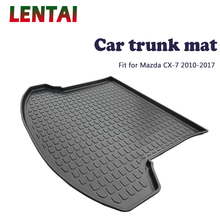 EALEN 1PC rear trunk Cargo mat For Mazda CX-7 2010 2011 2012 2013 2014 2015 2016 2017 Boot Liner Tray Anti-slip mat Accessories ealen 1pc rear trunk cargo mat for toyota highlander 2009 2010 2011 2012 2013 2014 boot liner tray anti slip mat accessories