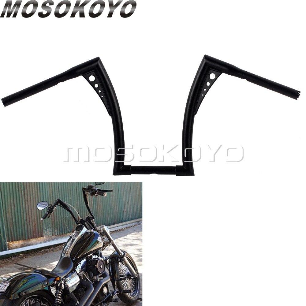 """14 """"rise Zwart Ape Hanger 1-1/4"""" Stuur 34 """"breed Slepen Vet Bar 1"""" Voor Harley Softail Sportster Cafe Racer Chopper Glide Xl Fxd"""
