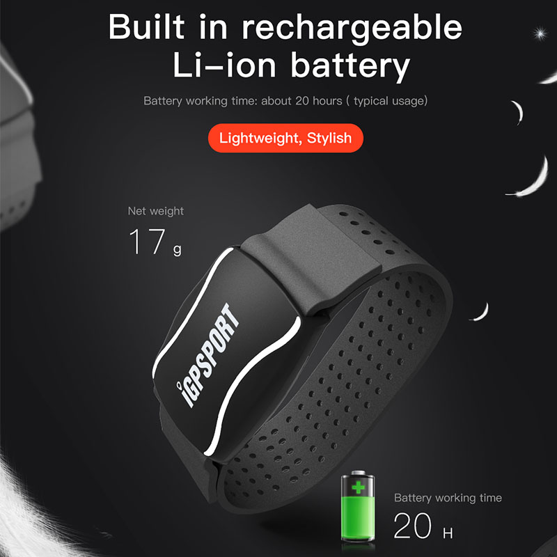 iGPSPORT Arm Photoelectric Heart Rate Monitor LED light warning HR60 Heart Rate Monitor Support bicycle Computer & Mobile APP