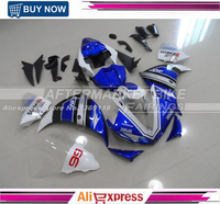 For Yamaha 2009 2010 2011 YZF R1 ABS Motorbike Covers R1 Fairing Kit 09 10 11 Complete Bodywork Blue & White M1