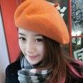 Мода Сплошной Цвет Зима Теплая Девушки Женщин Берет Шапка Повседневная Шапочка Cap AM9990